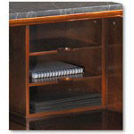 Mayline Sorrento Reception Counter Organizer, Bourbon Cherry, 13-3/4w x 9-3/4d x 13-3/4h