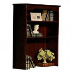 Mayline Hutch for Lateral File, Toscana Series, 36w x 15d x 48h, Mahogany