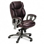 Mayline 300 Series Mid Back Swivel/Tilt Chair, Burgundy Leather