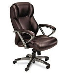 Mayline 300 Series High Back Swivel/Tilt Chair, Burgundy Leather