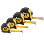 Titan Tape Measure Set, Quick Read, Cushioned, 4 Piece, Contains 12', 16', 25' And 33' Tapes