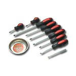 Titan 10 Piece Screwdriver Set w/Magnetic Dish and Pick Up Tool