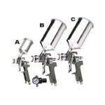 Titan 4 Piece Gravity Feed HVLP Spray Gun Kit