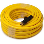 "Titan Hybrid Air Hose, 3/8"" I.D. x 50', Blended Rubber and PVC, 300 PSI, with 1/4"" NPT Male Fittings"