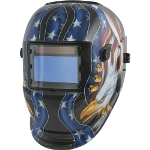 Titan Solar Powered Auto Darkening Welding Helmet with American Eagle Graphics