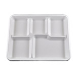Primeware 5 Compartment Compostable Lunch Tray