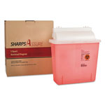 TrustMedical Sharps Retrieval Program Containers, 5 qt, Plastic, Red