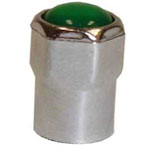 The Main Resource Chromed Plastic Sealing Hex Cap With Nitro ID Tip, 100 Per Box
