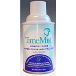 Timemist Aerosol Metered Air Freshener Refills, Lemon Lime, Case of 12 Refills