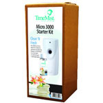 Timemist 3000 Shot Micro Starter Kit, Clean N' Fresh, White/Gray