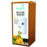 Timemist 3000 Shot Micro Starter Kit, Citrus, White/Gray