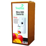 Timemist 3000 Shot Micro Starter Kit, Mango, White/Gray