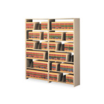 "Tennsco Snap-Together Open Shelving Add-On, 36"" x 76"", 6 Shelves, Beige"