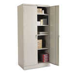 "Tennsco Locking Storage Cabinet, 78""-High, 36"" x 24"", Gray"