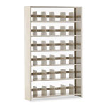"Tennsco Snap-Together Open Shelving Kit, 48"" x 12"", 6 Shelves, Beige"