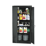 "Tennsco Standard Storage Cabinet, 72""-High, 36"" x 18"", Black"