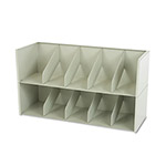 "Tennsco Add-a-Stack File Shelf Dividers, 36"" x 10"", Legal Size, Gray"