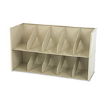 "Tennsco Add-a-Stack Shelving System Top & Base Unit, 36"", Legal Size, Beige"