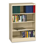 "Tennsco Welded Bookcase - 36"" x 18"" x 52"" - Legal - Durable, Locking Tab - Putty"