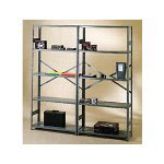 "Tennsco 75"" High Commercial Metal Shelving"