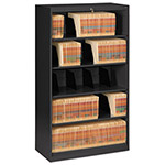 Tennsco Open Fixed Shelf Lateral File, 36w x 16 1/2d x 63 1/2, Black