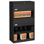 Tennsco Closed Fixed Shelf Lateral File, 36w x 16 1/2d x 63 1/2, Black