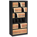 Tennsco Open Fixed Shelf Lateral File, 36w x 16 1/2d x 75 1/4, Black