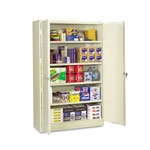 Tennsco Assembled Jumbo Steel Storage Cabinet, 48w x 18d x 78h, Putty