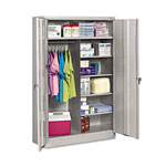 "Tennsco Jumbo Combination Steel Storage Cabinet, 48""x24""x78"", Light Gray"