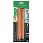 Tombow Recycled Colored Pencils, Natural Wood, Recycled Cedar, Artist Quality, 5/ST