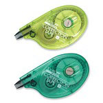 "Tombow Correction Tape, 1/6""x394"", 2/Pack, Assorted"