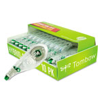 "Tombow White Single Line Hybrid Correction Tape, 1/6"" x 394"""