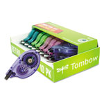 "Tombow MONO Correction Tape, Assorted Retro Color Dispensers, 1/6"" x 394"", 10/Pk"