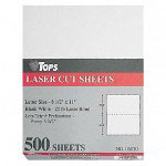 "TOPS Laser Cut sheet Paper, Perfed Every 5 1/2"" 8 1/2x11, WE"