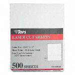 "TOPS Laser/Copier Paper, Perforated 3 2/3"" from Bottom, 8 1/2x11, 500 Sheets/Ream"