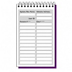 "TOPS Log In Log Book, 24 Pages, Spiralbound, 6""x9"", White"