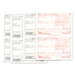 TOPS W 2 Tax Forms for Laser Printers, 4 Part, 50 Sets per Pack