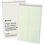 "TOPS Steno Book, 15 lb., Gregg Ruled, 80 Sheets, 6"" x 9"", GN Tint"