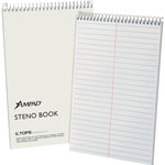 "TOPS Steno Book, 15 lb., Gregg Ruled, 70 Sheets, 6"" x 9"", White"