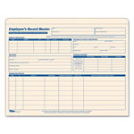 "TOPS Employee's Record Master File Jacket, 9 1/2 x 11 3/4, 15 Per Pack, 1"" Expansion"