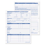 TOPS Employee Application, 8 1/2 x 11, 50 Sheets per Pad, 2 Pads/Pack