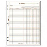 "TOPS Inventory Sheets, 8 1/2""x11"", White Bond Paper"