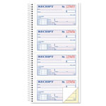 TOPS Spiralbound Carbonless Rent/Money Receipt Book, Duplicate, 200 Sets/Book
