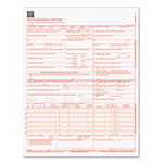 "TOPS Cms-1500 Claim forms, Continuous 1-Part, 8 1/2"" x 11"""