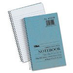 TOPS Blue Kraft Notebook, College Rule, 5 x 7-3/4, White, 80 Sheets/Pad