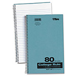 TOPS Backpack Notebook, College Rule, 6 x 9-1/2, White, 80 Sheets/Pad