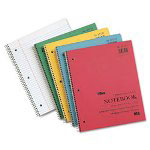 TOPS Kraft Subject Notebook, College Rule, 9 x 11, White, 100 Sheets