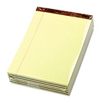 TOPS Stitched Perf Top Narrow Rule Legal Pad, Letter, Canary, 50 Sheets/Pad, Dozen