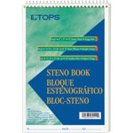 "TOPS Steno Book, Gregg Rule, 70 Sheets, 6""x9"", Green Tint"