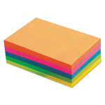 TOPS Assorted Fluorescent Color Memo Sheets, 4 x 6, 500 Loose Sheets/Pack